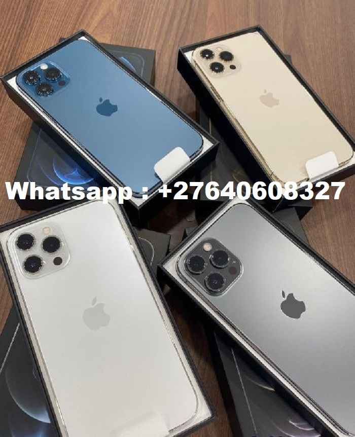 Apple iPhone 12 Pro 128GB = 500euro, iPhone 12 Pro Max 128GB = 550euro, iPhone 12 64GB = 430euro , iPhone 12 Mini 64GB = 400euro, iPhone 11 Pro 64GB = 400euro, iPhone 11 Pro Max 64GB = 430euro, WHATSAPP : +27640608327